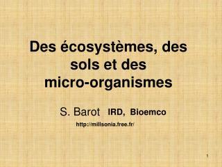 Des écosystèmes, des sols et des  micro-organismes