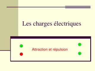 Les charges électriques