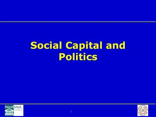 Social Capital and Politics