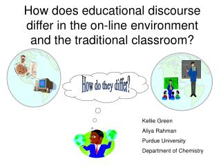 How does educational discourse differ in the on-line environment and the traditional classroom?