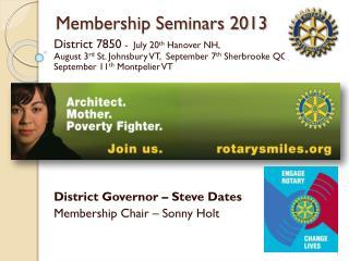 Membership Seminars 2013