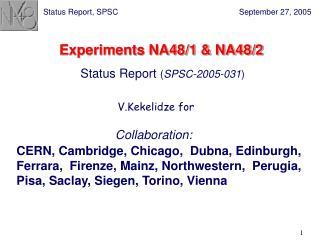 Experiments NA48/1 & NA48/2
