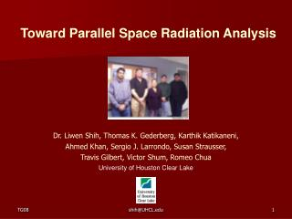 Toward Parallel Space Radiation Analysis