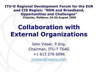 Collaboration with External Organizations