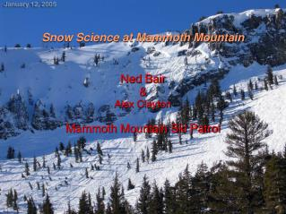 Snow Science at Mammoth Mountain