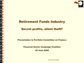 Retirement Funds Industry Secret profits, silent theft?