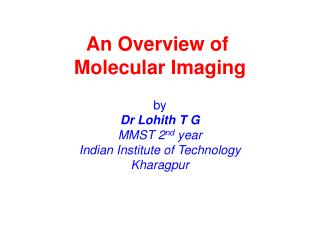 An Overview of  Molecular Imaging