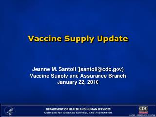 Vaccine Supply Update