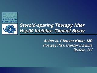 Steroid-sparing Therapy After Hsp90 Inhibitor Clinical Study