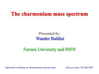 The charmonium mass spectrum