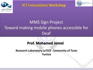 Prof. Mohamed Jemni
