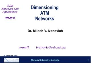 Dimensioning  ATM  Networks