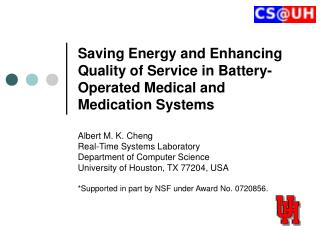 Saving Energy and Enhancing Quality of Service in Battery-Operated Medical and Medication Systems