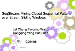 SeqStream: Mining Closed Sequential Pattern over Stream Sliding Windows