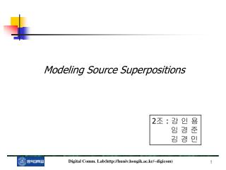 Modeling Source Superpositions