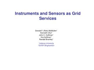 Instruments and Sensors as Grid Services