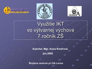 Využitie IKT  vo výtvarnej výchove 7.ročník ZŠ