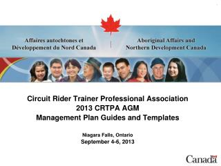 Circuit Rider Trainer Professional Association 2013 CRTPA AGM Management Plan Guides and Templates