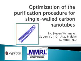 Optimization of the purification procedure for single-walled carbon nanotubes