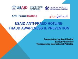 USAID ANTI-FRAUD HOTLINE- FRAUD AWARENESS & pREVENTION