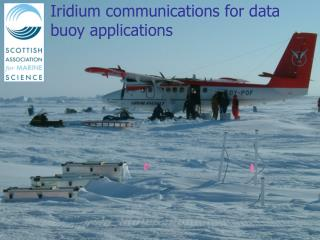 Iridium communications for data buoy applications