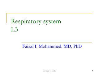 Respiratory system L3