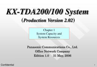KX-TDA200/100 System ( Production Version 2.02 )