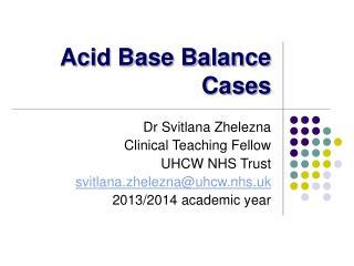 Acid Base Balance Cases