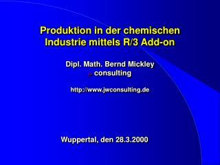Wuppertal, den 28.3.2000
