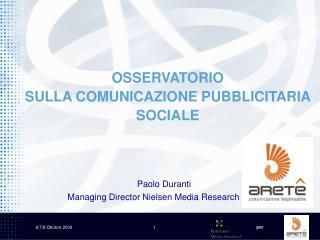 OSSERVATORIO  SULLA COMUNICAZIONE PUBBLICITARIA SOCIALE