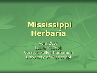 Mississippi Herbaria