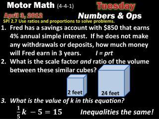 Motor Math  (4-4-1)