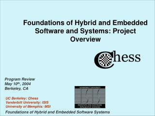 Foundations of Hybrid and Embedded Software and Systems: Project Overview