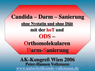 AK-Kongreß Wien 2006 Peter-Hansen Volkmann naturheilkunde-volkmann.de