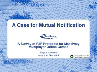 A Case for Mutual Notification