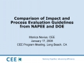 Comparison of Impact and Process Evaluation Guidelines from NAPEE and DOE