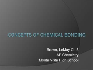 Concepts of Chemical Bonding