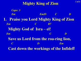 Mighty King of Zion