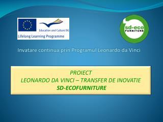 Invatare continua prin Programul Leonardo da Vinci