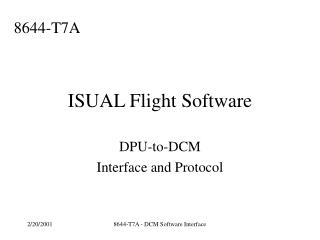 ISUAL Flight Software