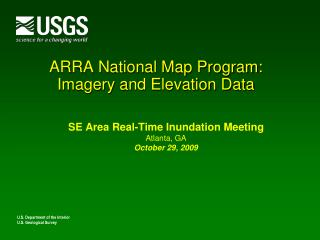 ARRA National Map Program: Imagery and Elevation Data