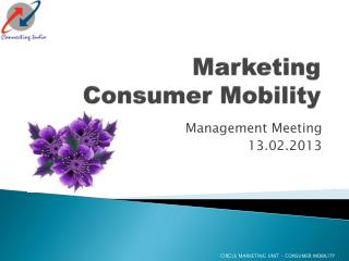 Marketing  Consumer Mobility