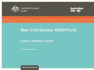 New Civil Society WASH Fund