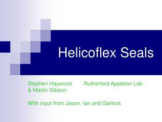 Helicoflex Seals