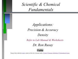 Scientific & Chemical  Fundamentals