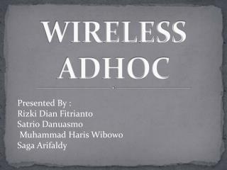 WIRELESS ADHOC