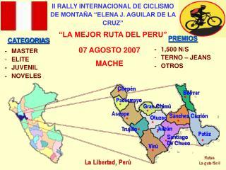 """II RALLY INTERNACIONAL DE CICLISMO DE MONTAÑA """"ELENA J. AGUILAR DE LA CRUZ"""""""