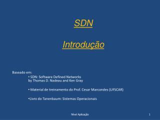 SDN  Introdução