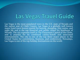Las Vegas Travel Guide
