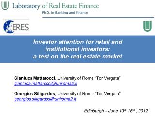 Investor attention for retail and  institutional investors: a test on the real estate market